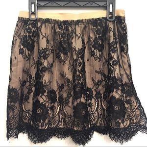 Zara | lace black/Ivory skirt